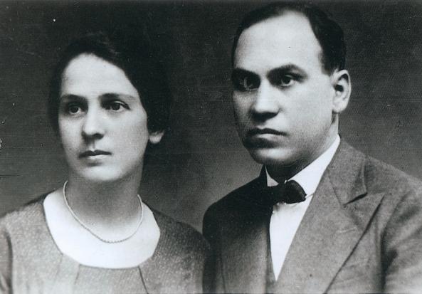 Dimitrie și Florica Bagdasar, proapăt căsătoriți, 1927